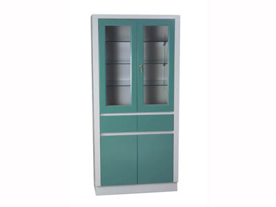 LARGE INSTRUMENT CABINET ,2 DOORS, 2 DRAWERS,