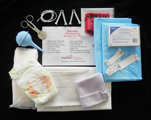 Emergency OB Kits / CLEAR  PLASTIC BAG