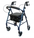Aluminum Rollator with Fold Up and Removable Back Support, Padded Seat, 6